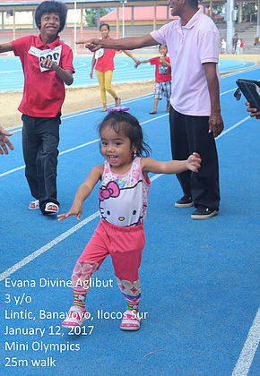 Evana participating during the Mini Olympics 2017