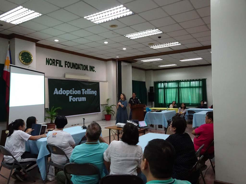 adoptive parents hosting the Adoption Telling Forum