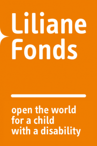 Logo: Liliane Fonds. Tagline: Open the world for a child with a disability. Click here to go to their website.