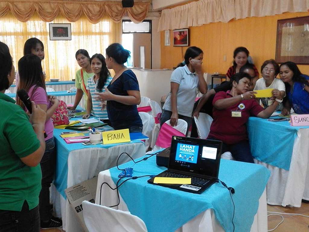 AKAPIN Batangan having a workshop on disaster preparedness