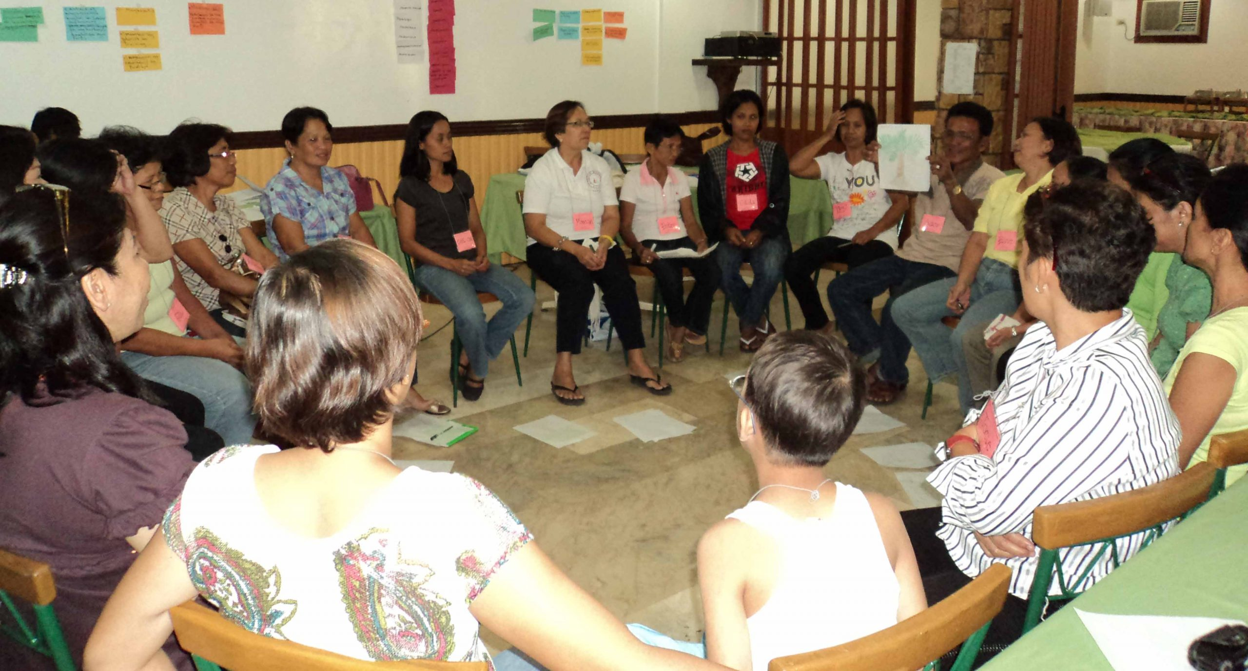 group sharing during a capacity-building activity